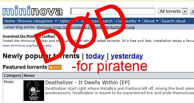 """Alt """"ulovlig"""" materiale er nå fjernet fra Mininova. Får det store konsekvenser for piratene? (Ill. Teknologia)"""