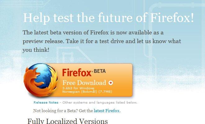 Ny Firefox-beta lansert med mindre Windows 7-funksjoner. Hva synes du? (Ill. Teknologia.no)
