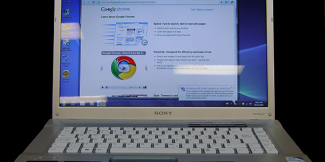 Sony Vaio med Windows 7 og Chrome ut-av-boksen. (Foto: DownloadSquad)