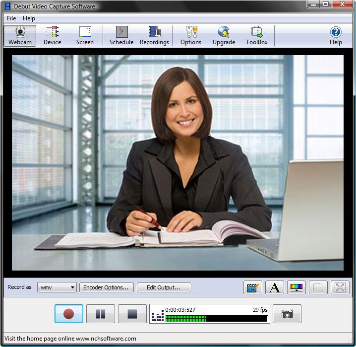 Ta opp video med dette lill programmet. Programmet er selvfølgelig gratis (Ill. nchsoftware)