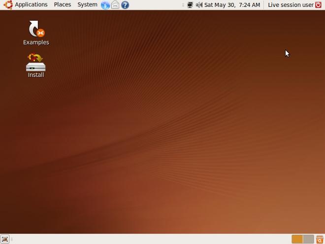 """Omtrent slik ser Ubuntu ut. Fra """"Places""""-menyen kan man enkelt finne Windows-partisjonen."""