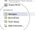 Facebook introduserer interesselister