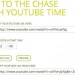 Velg starttid på YouTube-klippene du deler
