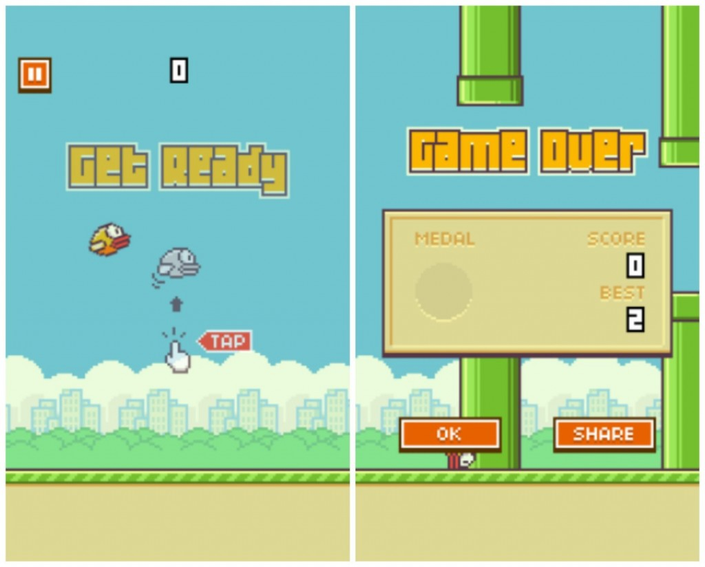Foto: Flappy Bird / Montasje