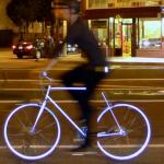 Denne sykkelen lyser opp når det blir mørkt