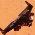 Jetman flyr formasjon sammen med fly