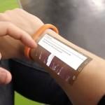 The Cicret Bracelet- skjerm på huden