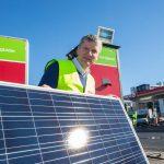 Norske bensinstasjon med solkraft