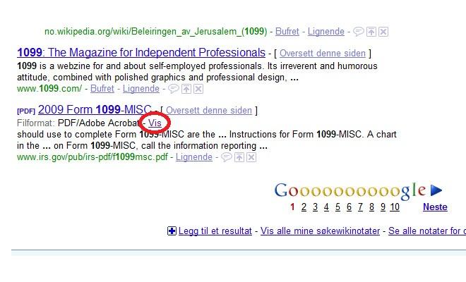 """Klikk på """"vis"""" for å vise dokumentet i PDF-format. (ill. Bitnett Teknologia)"""