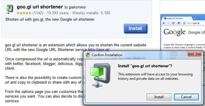 """Trykk """"Install"""" og du er ferdig. Å installere utvidelser for Chrome er så enkelt. (Ill. Teknologia.no)"""
