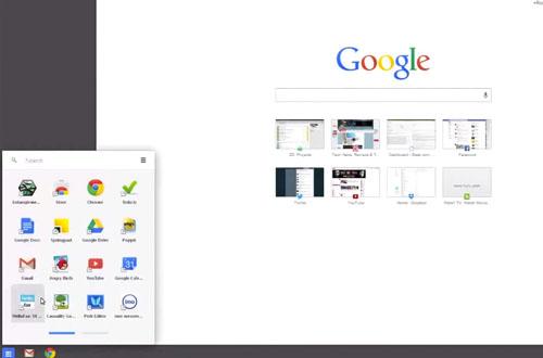 Slik ser Chromes «Metro»-utgave ut i Windows 8. Foto: Geek.com / YouTube