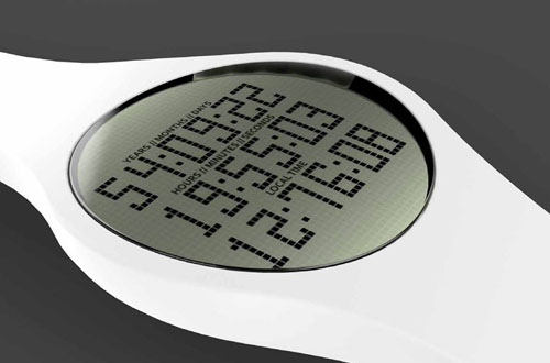 Denne klokka teller ned - til døden. Foto: Tikker