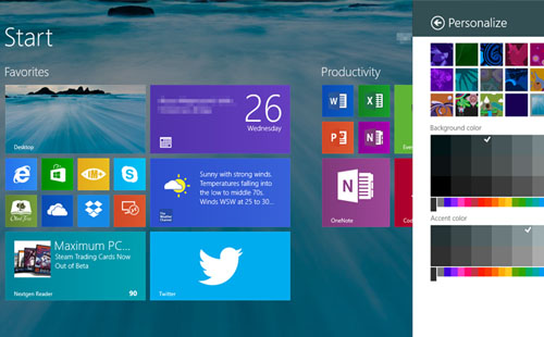 windows 8.1 universal bakgrunn