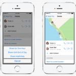 Fortell hvor du befinner deg via Messages i iOS 8