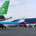 Økning i flytrafikken i oktober