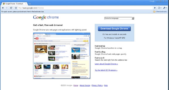 Chrome 3.0 er nå lansert, kun for Windows vel og merke. (ill. Bitnett Teknologia)
