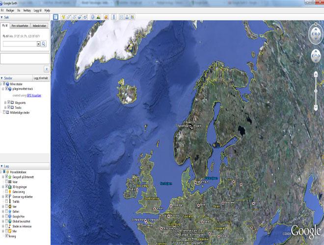 I Google Earth kan hele verden utforskes. (ill. Bitnett Teknologia)